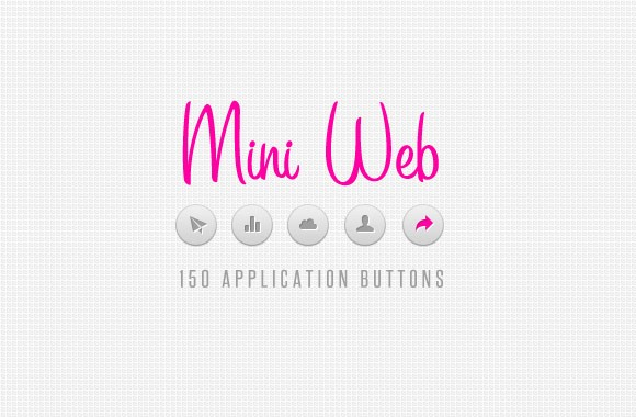 150 Mini Web Application Buttons