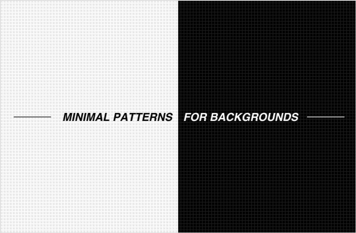 Minimal patterns for backgrounds