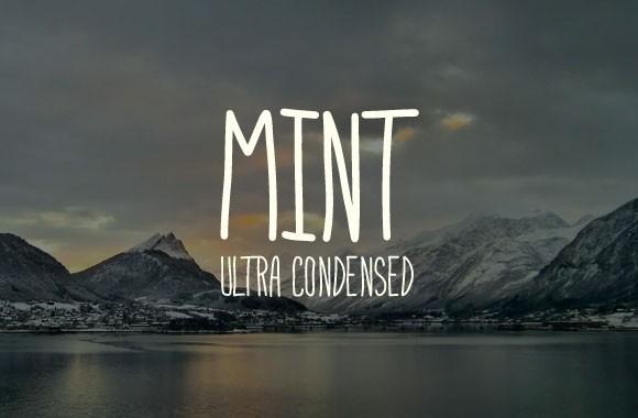 Mint - An Ultra Condensed Hand Written Font