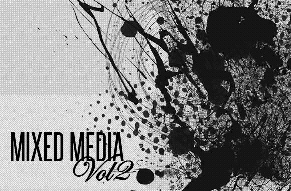 Mixed Media Photoshop Brush Set