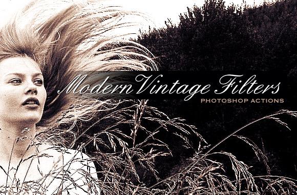 Vintage Modern Filters - Photoshop Action Set