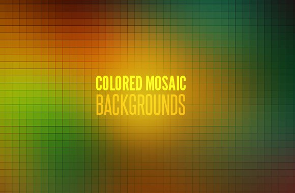 Colored Mosaic Backgrounds