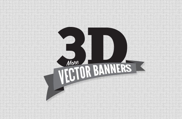 More 3D Vector Banners