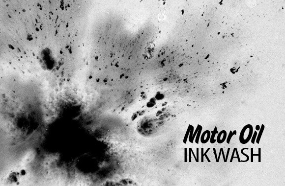 Motor Oil Ink Wash Brushes