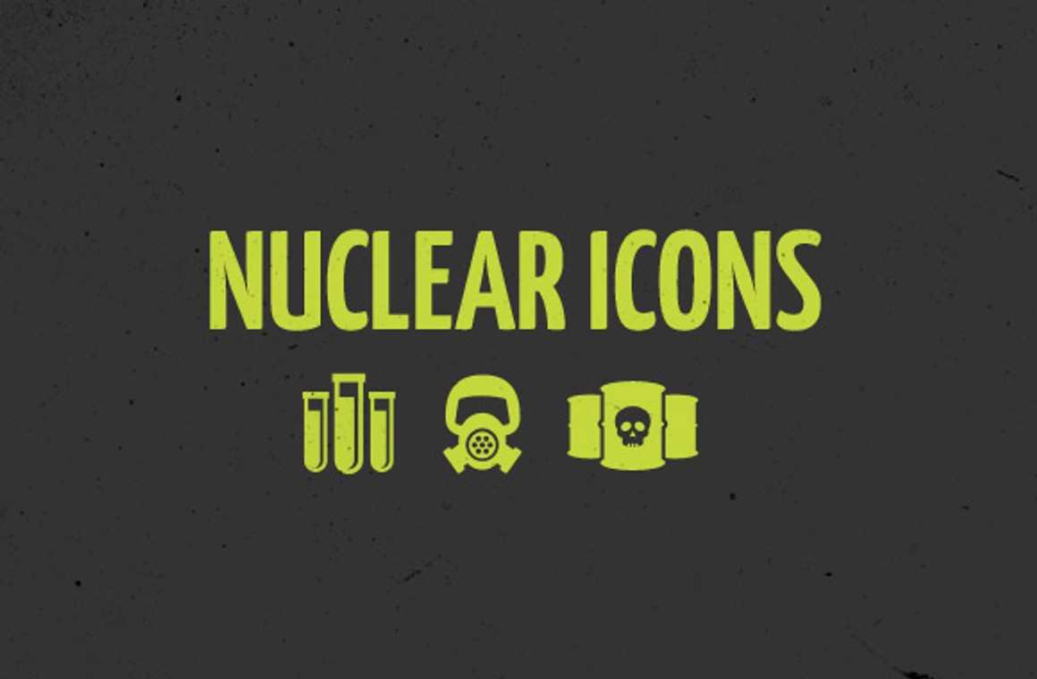 Free Vector Nuclear Icon Set