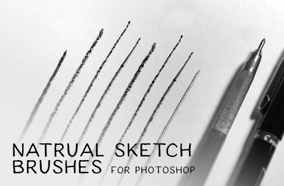 Natural Sketch Brushes for Photoshop
