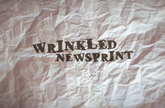 16 Perfectly Wrinkled Newsprint Textures