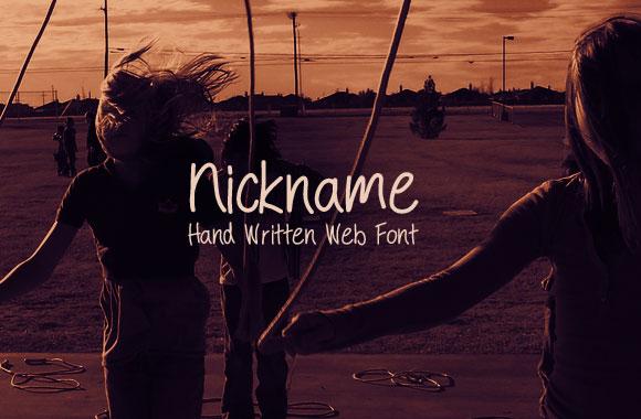 Nickname – Handwriting Web Font