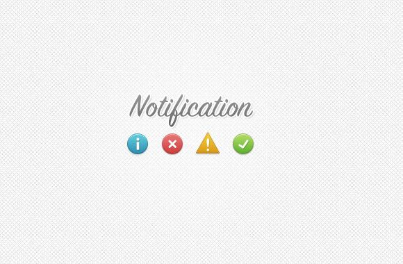 Notification / Alert Boxes PSD