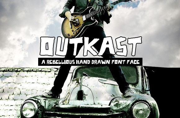 OutKast - A Rebellious Hand Drawn Font Face