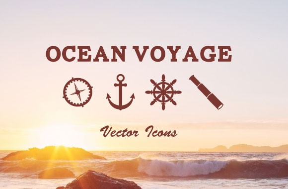 Ocean Voyage Vector Icons