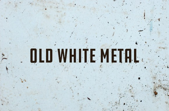 Old White Metal Textures and Brushes