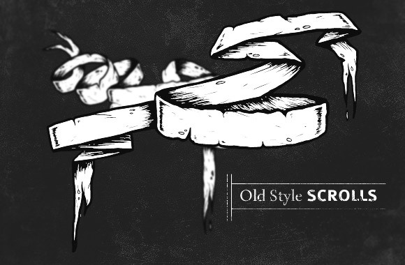 Old-style scrolls