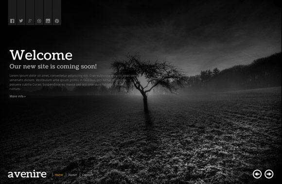 Avenir - A Free Coming Soon HTML Template