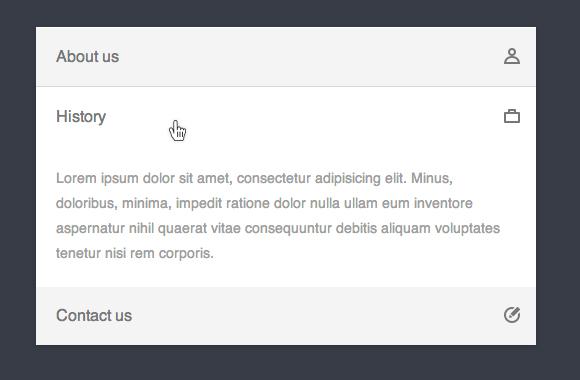 CSS3 only accordion menu