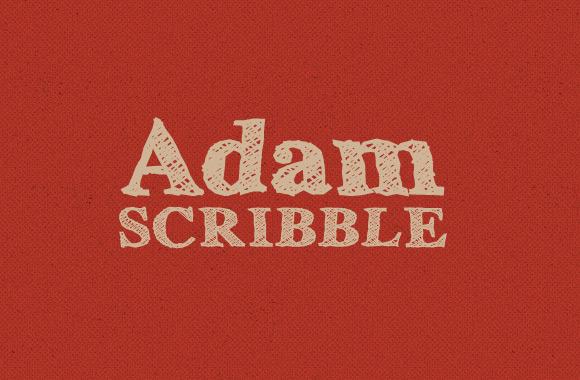 Adam Scribble - Font Face
