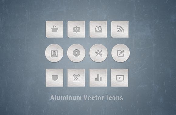 Aluminum Vector Icons