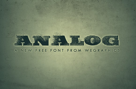 Analog: A Free Grunge Font From WeGraphics