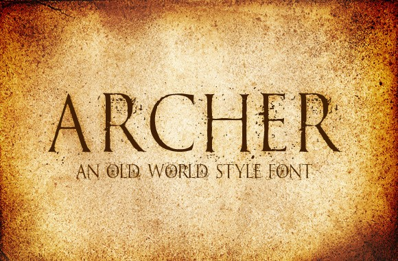Archer - An Old World Style Font Face