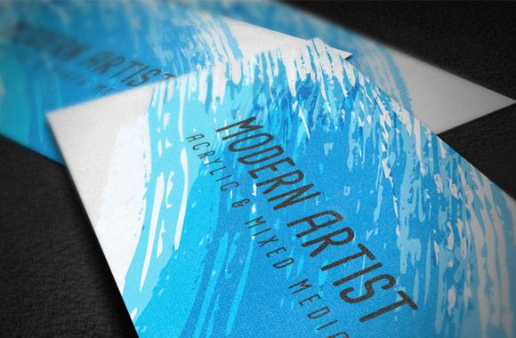 Modern Artist Business Card Template