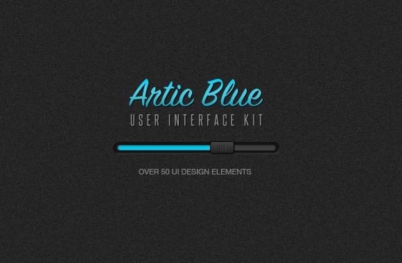 Artic Blue User Interface Design Kit