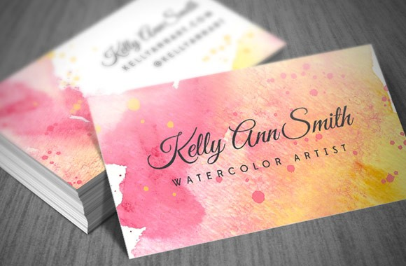 Watercolor Artist Business Card Template