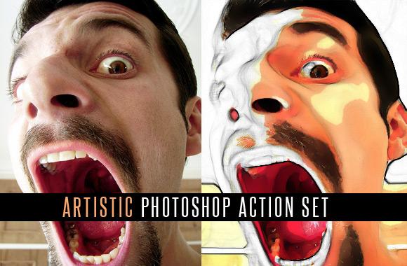 Artistic Photoshop Actions Set