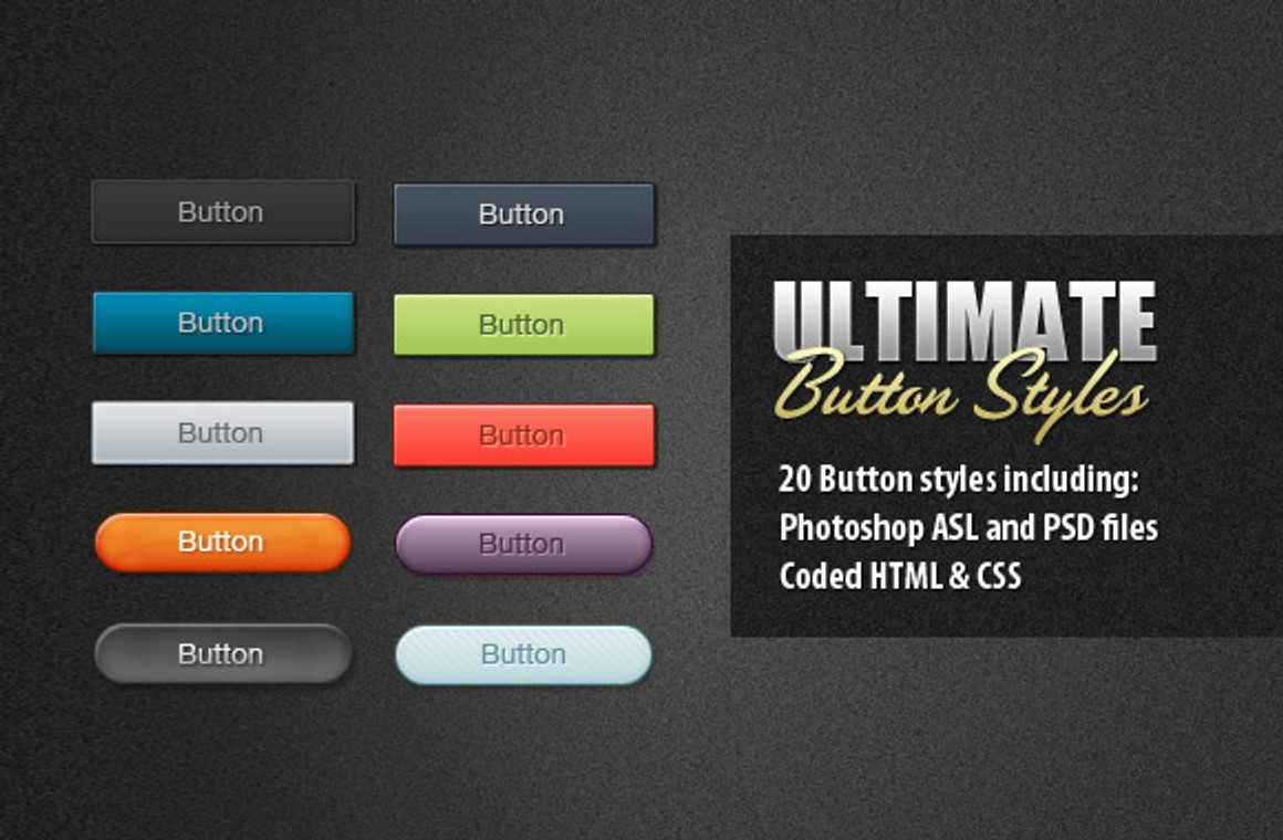 20 Ultimate Button Styles with CSS