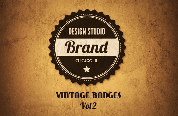 Vintage Vector Badges Vol 2
