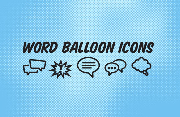 Word Balloon Vector Icons