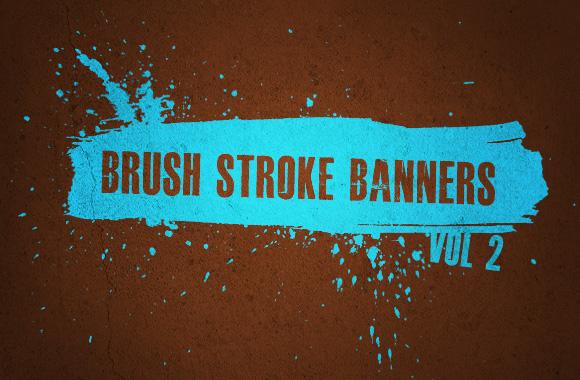 Brush Stroke Banners Vol 2