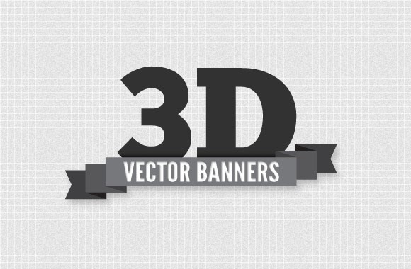 3D Vector Banners