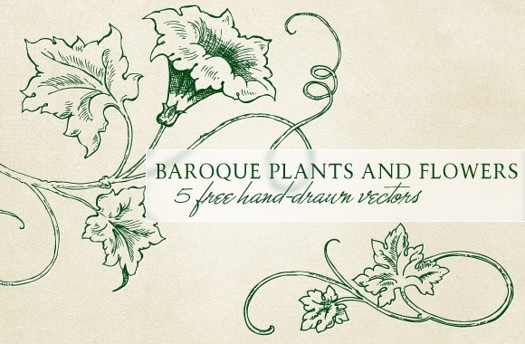 Baroque plants and flowers