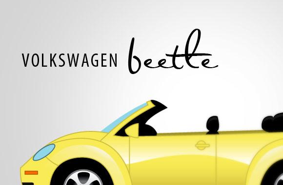 Free Volkswagen Beetle Vector Illustration