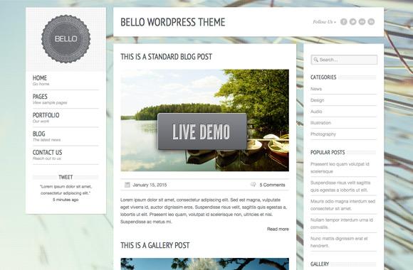 Bello: A Free Wordpress Theme
