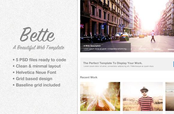 Bette - PSD Web Template Set