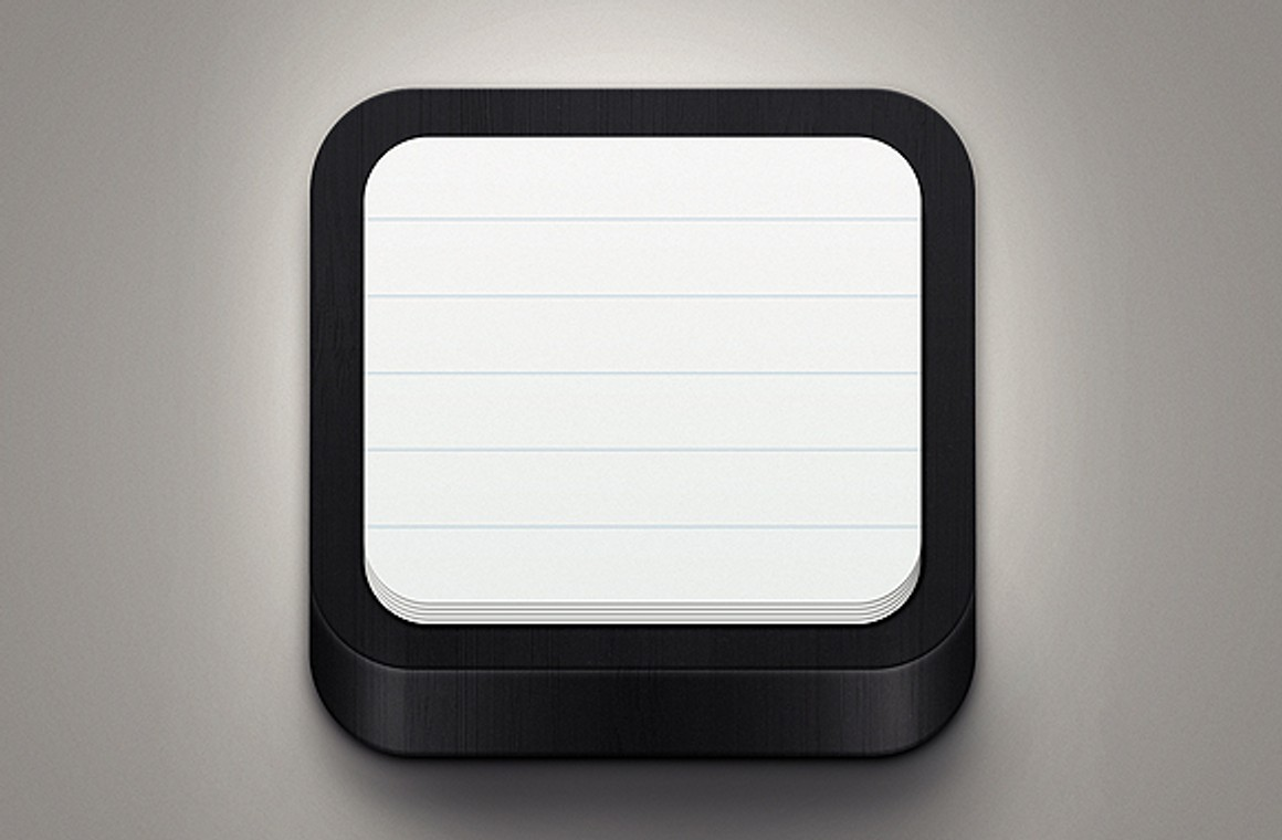 Black Notebook Icon - Free Template