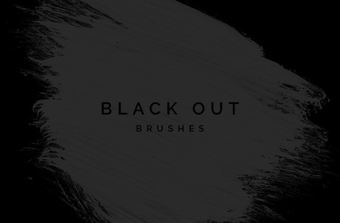 Black Out Brushes for Photoshop