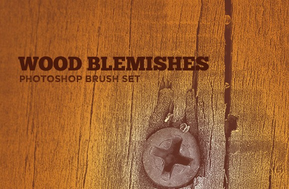 Wood Blemishes Photoshop Brush Set