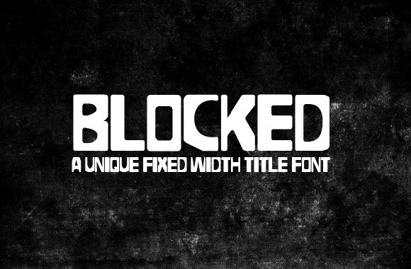 Blocked - A Fixed Width Title Font