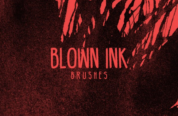 Blown Ink Photoshop Brushes