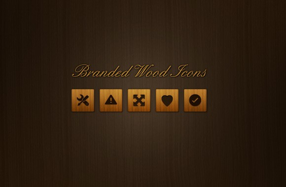 30 Branded Wood Icons
