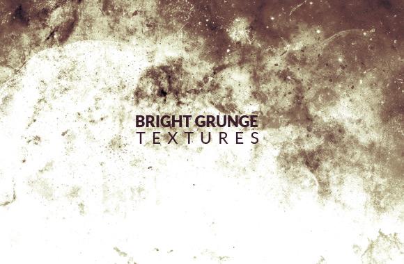 Bright White Grunge Texture Set