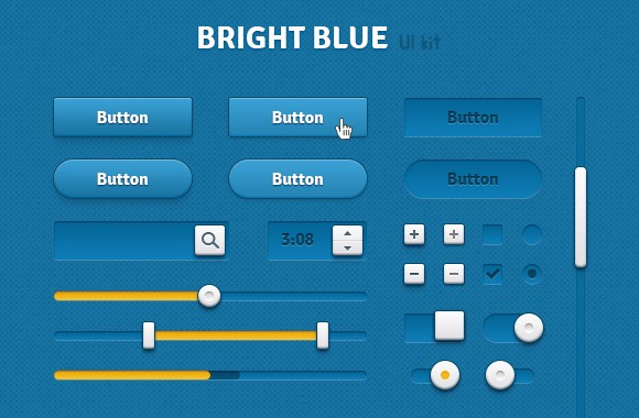 Bright Blue UI Kit - Retina Ready