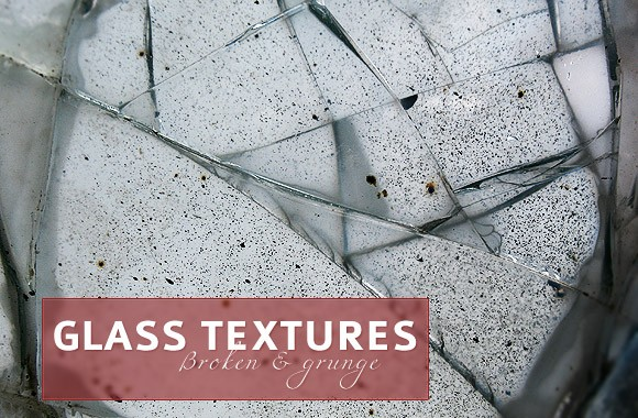 Broken and grunge glass textures