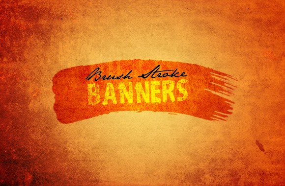 Brush Stroke Banners