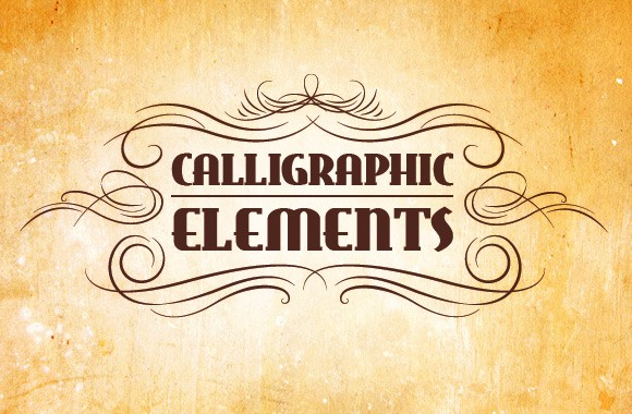 Vector Calligraphic Elements Pack