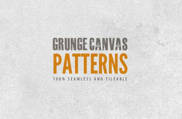 Seamless Grunge Canvas Patterns