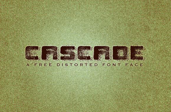 Cascade - A Free Grunge Font Face
