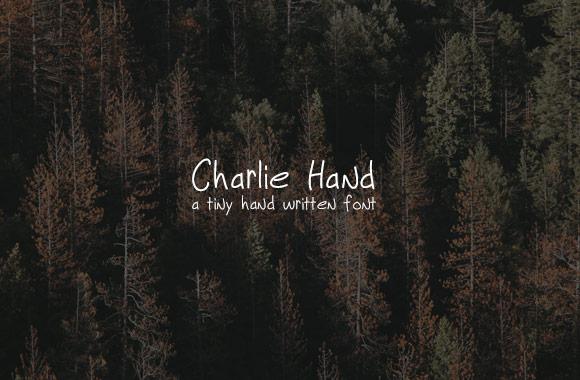 Charlie Hand - A Tiny Handwritten Font